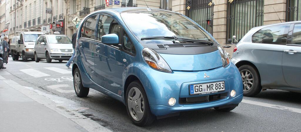 Mitsubishi i-MiEV er en av de nye elbilene på markedet. Pris? fra 240.000 kroner. Foto: Knut Moberg