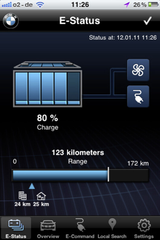BMW ActiveE Smartphone application  Foto: BMW