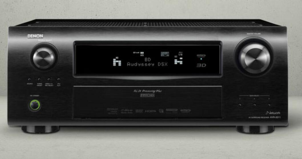 Receiveren Denon AVR-3311 får Airplayfunksjonen via en softwareoppdatering. Pris hos Hi-Fi Klubben er 10.598.- Foto: Produktbilder