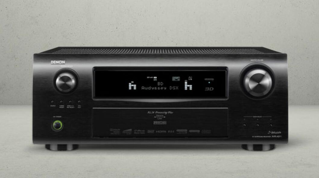 Receiveren Denon AVR-4311 får Airplayfunksjonen via en softwareoppdatering. Pris hos Hi-Fi Klubben er 16.998. Foto: Produktbilder