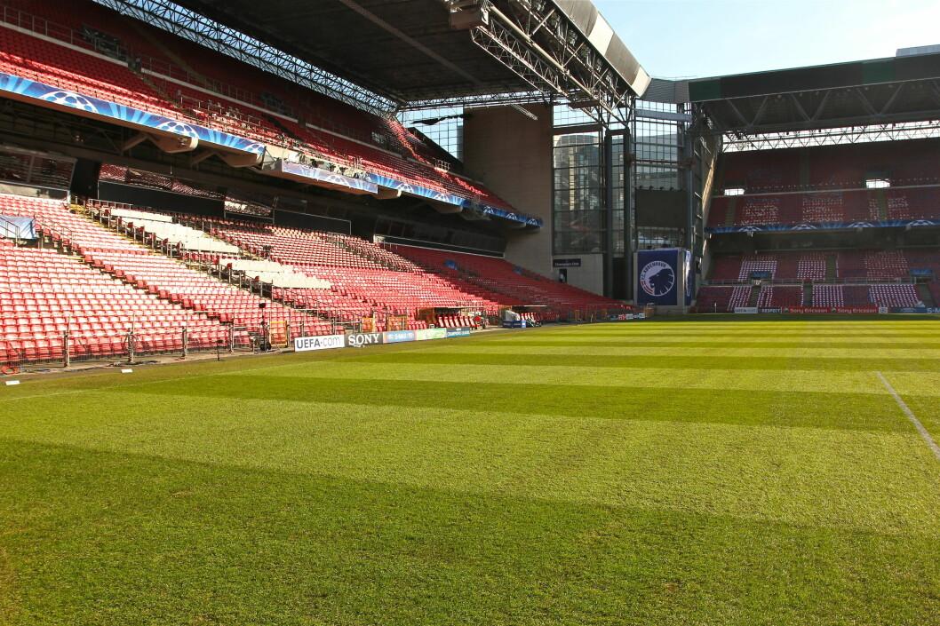 Parken stadion, hjemmebanen til FC København. Foto: Øivind Idsø