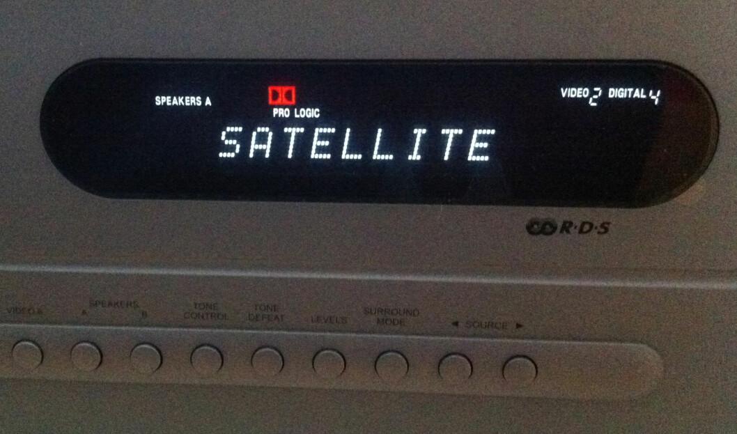 Receiveren får Dolby Pro Logic fra Get-dekoderen Foto: Brynjulf Blix