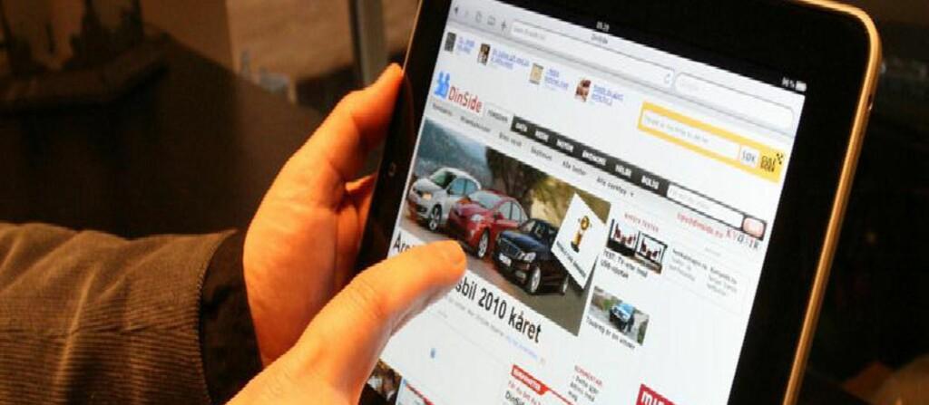 Apple`s populære iPad har stor suksess i Norge.  Foto: DinSide