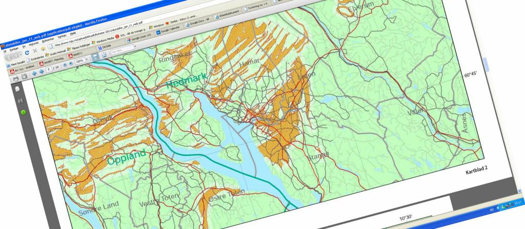 radon bergen kart Nye kart viser fare for radon   DinSide radon bergen kart