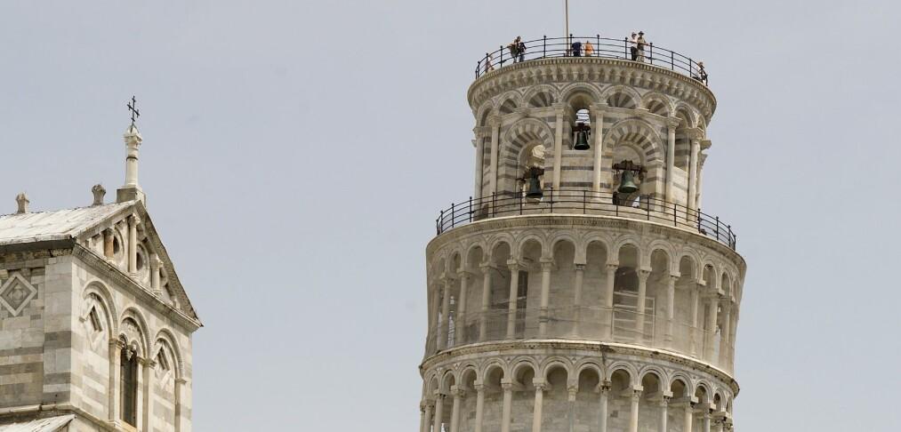Det skjeve tårn i Pisa - ikke så skjevt lenger