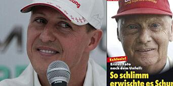 image: «Eksklusivt! Det første bildet etter ulykken. Så hardt rammet er Schumacher»