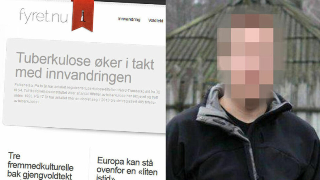 <strong>SAMME NAVN:</strong> Den svenske IT-konsulenten og profilerte høyreekstremisten nekter for å eie domenet Fyret.nu. Men domenet har stått registrert på samme navn som hans. Faksimile: Fyret.nu