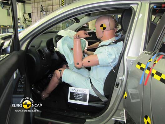 Føreren er meget godt beskyttet i Kia Sportage.                                Foto: Euro NCAP