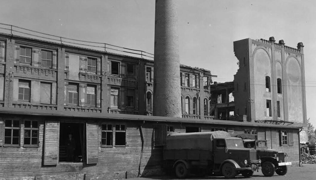 <strong>BAKERIET:</strong> Det var i dette bakeriet Nakam-medlemmene tok seg jobb. Bakeriet forsynte fangeleiren, Stalag 13, med mat. Foto: U.S. Army Signal Corps / AP / NTB Scanpix