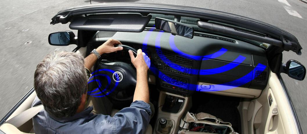 <strong>SPERRET?</strong> Det er mulig å sperre for mobilbruk i bil, men kanskje ikke første steg på veien mot distraherte førere. Foto: Colourbox.com