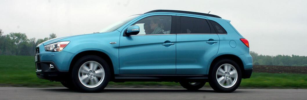 Mitsubishi ASX har truffet godt her i landet og selger meget bra. Kompakt, men romslig SUV med moderat, men momentsterk dieselmotor til rimelig pris - det er suksessformelen. Foto: Knut Moberg