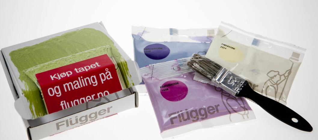 <strong><b>Smart:</strong></b> For snaue 70 kroner får du malingsprøvene levert på døren.  Foto: Per Ervland