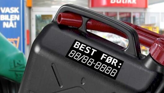 Hvor lenge kan du oppbevare bensin og diesel?