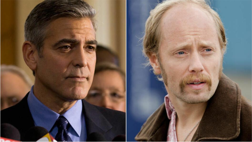 <strong>FÅR AMERIKANSK VERSJON:</strong> George Clooney (til venstre) skal produsere en amerikansk versjon av thrilleren «Pionér», der Aksel Hennie spilte rollen som Petter - en nordsjødykker som risikerer alt i jakten på sannheten om en tragisk ulykke. FOTO: PROMO