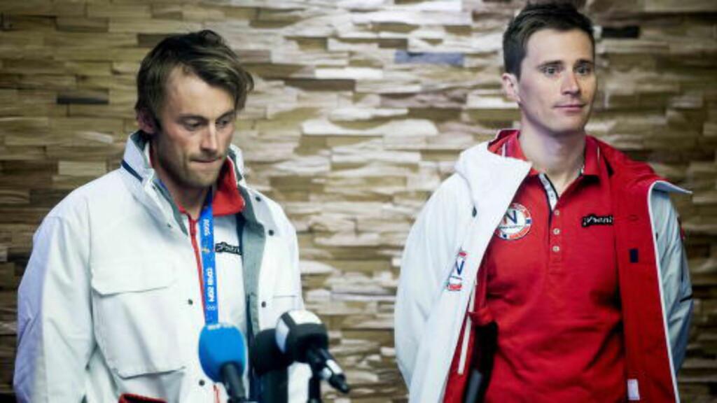 DREAM-TEAM: Petter Northug og Ola Vigen Hattestad går sprintstafetten for Norge. Foto: Thomas Rasmus Skaug