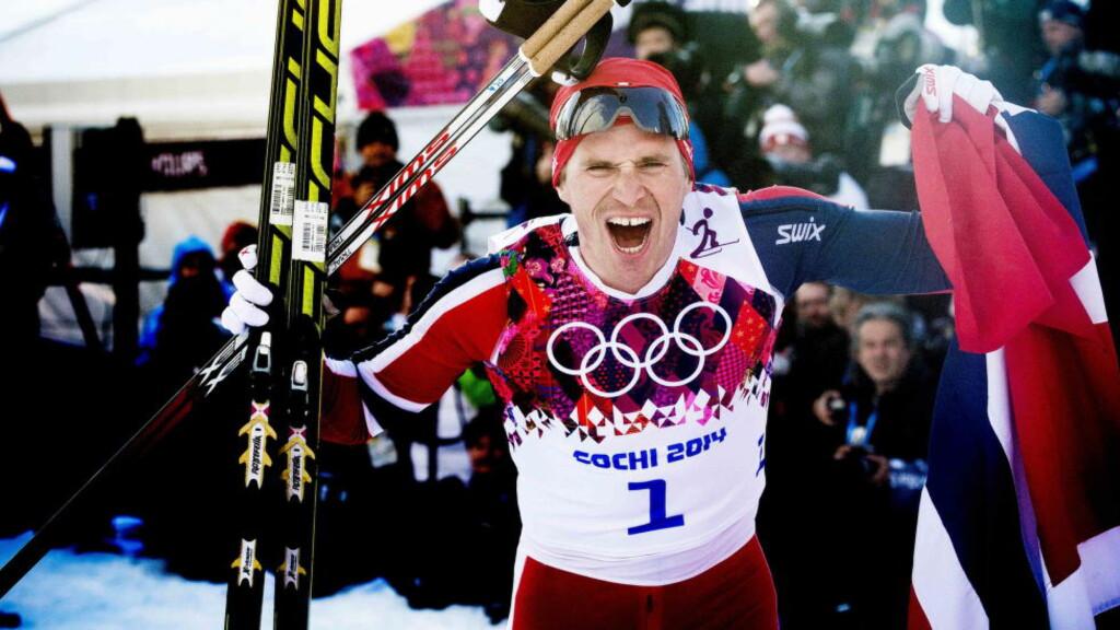 NY SJANSE: Ola Vigen Hattestad tok gullet på sprinten. I dag har han sjansen igjen. Foto: Thomas Rasmus Skaug
