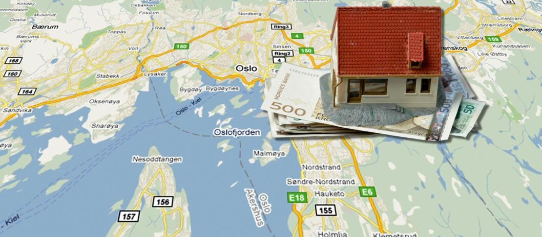 Hvor du bor, påvirker forsikringspremien din. Men ingen vil fortelle deg hvor det er billigst. Foto: Googlemaps/Colourbox.com/Per Ervland