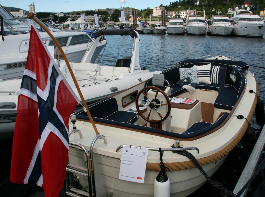 <strong>Maril 625:</strong> Nederlandsk snekke som er ny på det norske markedet. Den kan bestilles i valgfri farge uten tillegg i pris. Foto: Kristin Sørdal