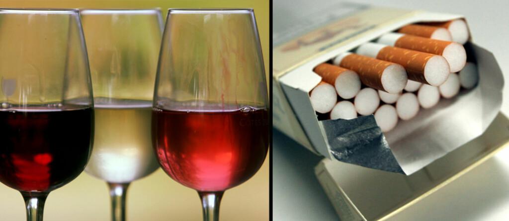 <B>DYRERE:</B> Alkohol og tobakk blir med all sannsynlighet litt dyrere neste år. De nye prisene blir ikke betydelig høyere, og vil nok ikke skremme nordmenn fra å grensehandle. Foto: Colourbox.com