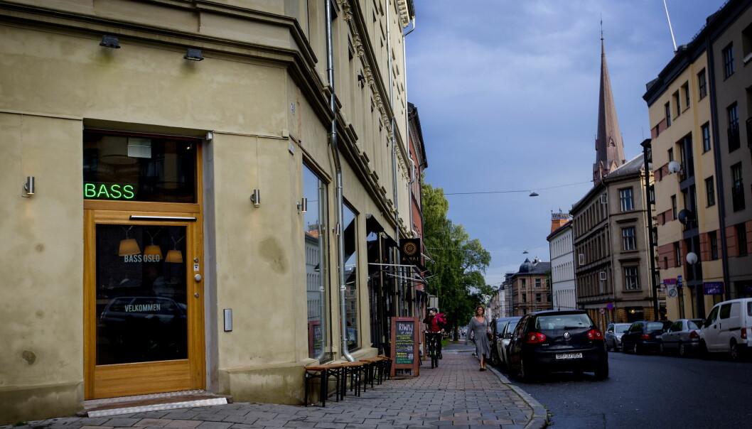 <strong>ØVRE GRÜNERLØKKA:</strong> Bass troner nesten på toppen av Thorvald Meyers gate. &nbsp;Foto: Anita Arntzen / Dagbladet