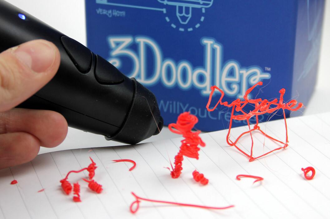 <strong><b>JO, JO:</strong> </b>Vi er ikke voldsomt stolte av hva vi har fått til med 3Doodler foreløpig, men gøy var det.  Foto: OLE PETTER BAUGERØD STOKKE