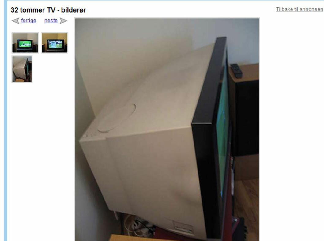 BilderørsTV-er er det masse av på finn.no. Foto: Finn.no