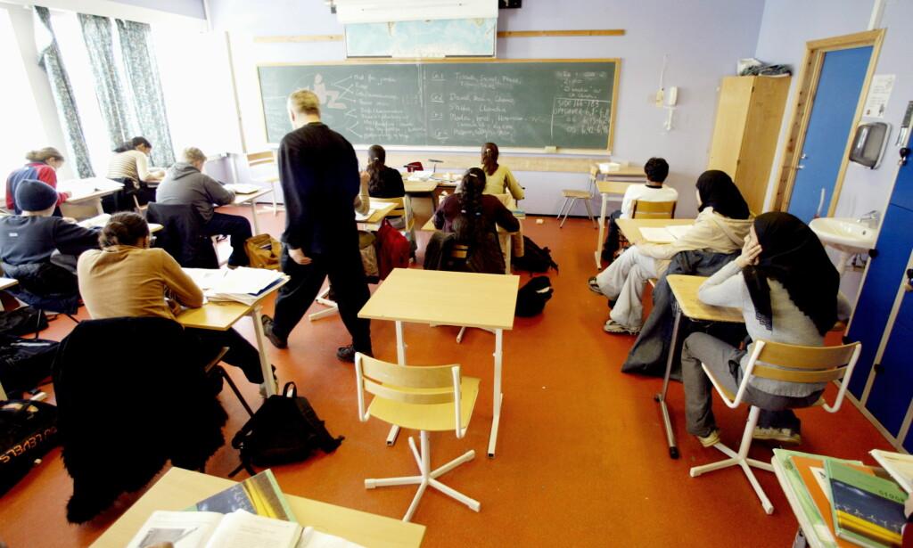 KLASSESTØRRELSE: Det er klart klassestørrelse betyr noe, skriver denne førstelektoren. Foto: Bjørn Langsem/DAGBLADET.
