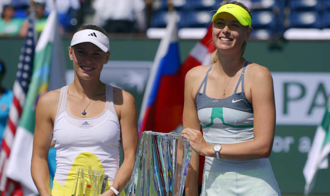 <strong>NY TRENER:</strong> Caroline Wozniacki får Maria Sjarapovas gamle trener fra neste sesong. Foto: AP Photo/Mark J. Terrill
