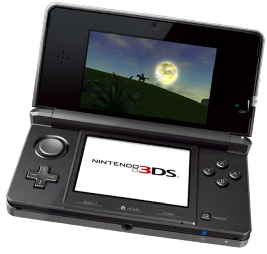 <strong><B>VISER 3D UTEN BRILLER:</strong></B> Nintendos nye spillmaskin viser filmer og spill i 3D - uten at du trenger 3D-briller.Maskinen lanseres innen utgangen av mars neste år og vil antagelig koste litt over 2.000 kroner. Foto: Nintendo