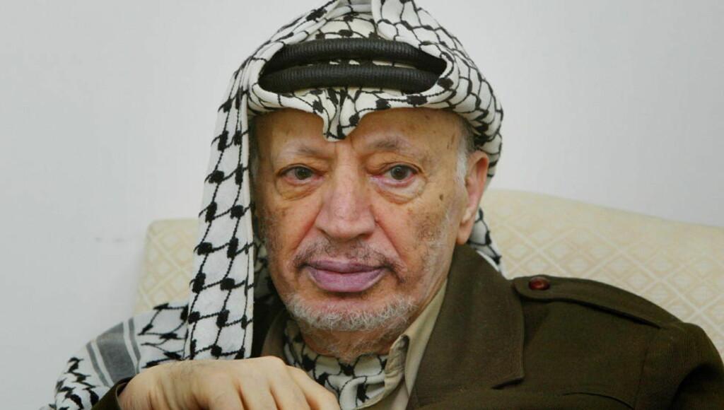 TO ÅR FØR: Dette bildet ble tatt i Ramallah to år før Yassir Arafat døde. Den palestinske lederen ble myrdet med radioaktiv gift. Foto: Hans Arne Vedlog