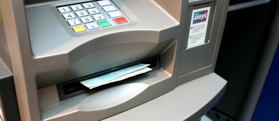 Nylig var det fortsatt mulig å få ut penger i en minibank i hovedstadens travleste kjøpesenter.  Foto: Kristina Picard