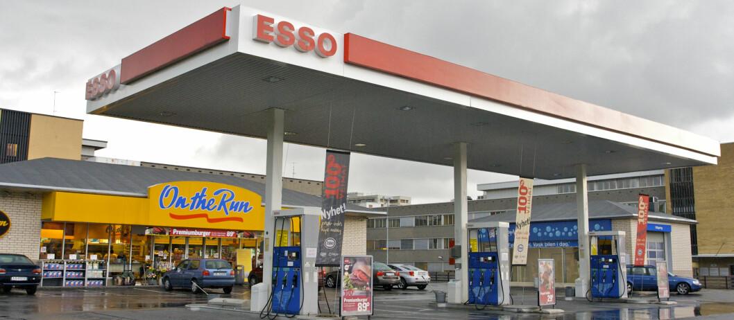Det er Esso Tveita Veiservice i Oslo som nå er under etterforskning for kopiering av kort.  Foto: Øivind Idsø