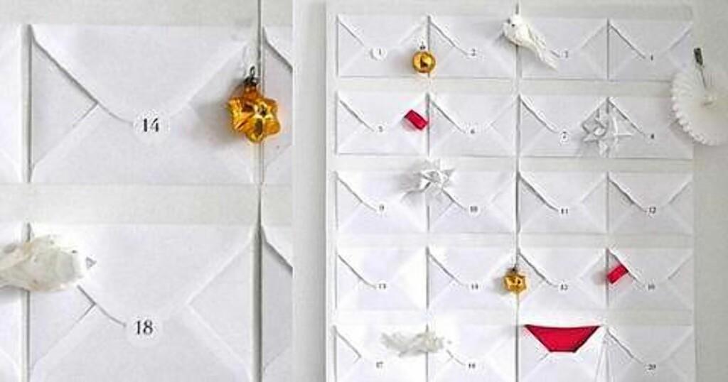 3. STILREN OG ENKEL: Kalenderen som kan lages i en fei. Foto: sarahandbendrix.com