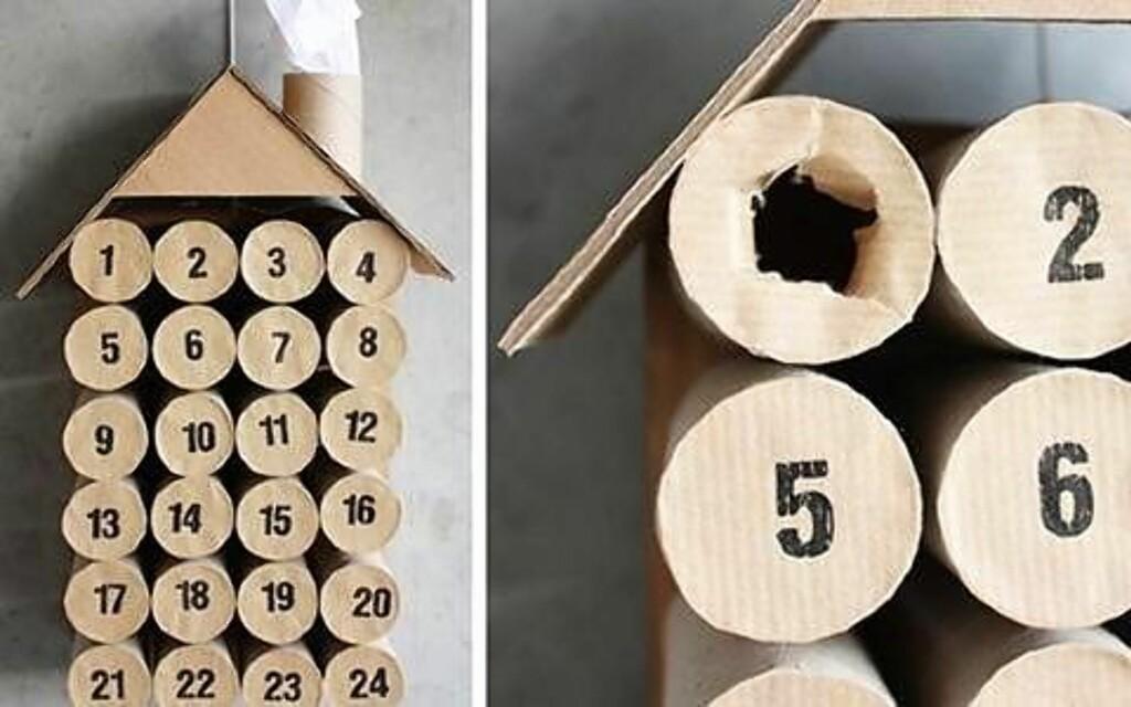 4. MODERNE JULEKALENDER: vær kreativ med doruller. Foto: morningcreativity.com