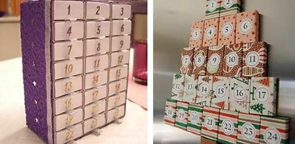 10. EN GOD GAMMEL KLASSIKER: Fyrstikkesker i mange varianter. Foto: lillemittalt.blogg.no og craftyteacherlady.blogspot.no