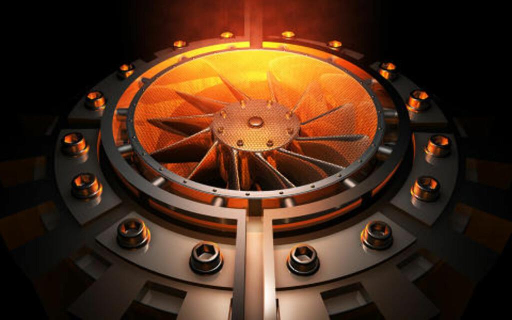 1 GRAM = 28 000 LITER: Laser Power Systems i USA hevdet i 2011 at de kunne «mate» en bilmotor med thorium-generert energi. Ifølge dem skal et gram thorium tilsvare 28 000 liter bensin. Foto: LPS