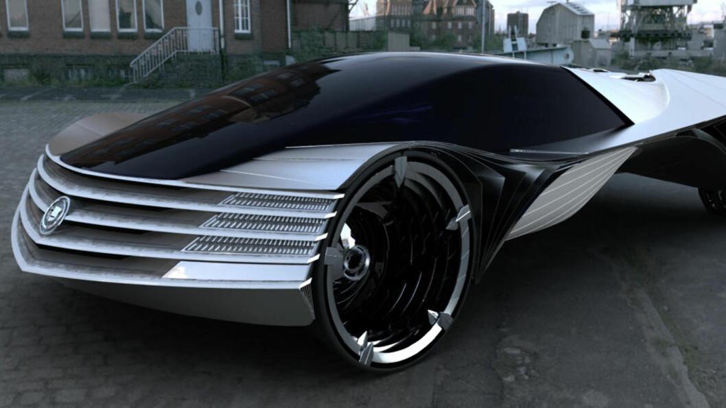 <strong>ATOMKRAFT:</strong> Dette er en thorium-drevet Cadillac, slik den ble framstilt av designeren Loren Kulesus i 2010. Thorium er et grunnstoff som av og til presenteres som framtidas alternativ til uran og plutonium. Foto: LOREN KULESUS