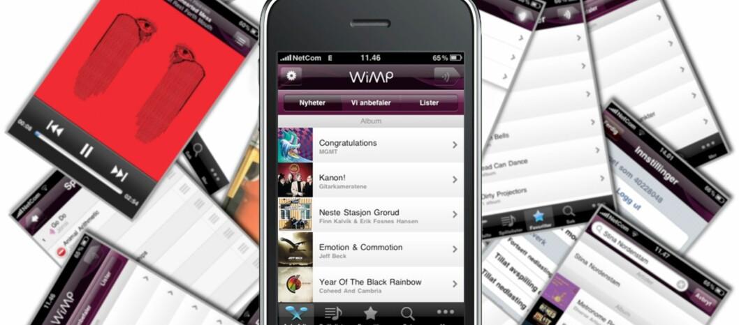 <strong><B>LOVENDE:</strong></B> Wimp for iPhone blir snart tilgjengelig i App Store. Vi har tatt en kikk.