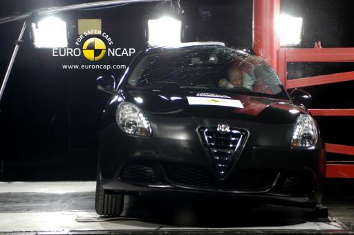 Stolpetesten Foto: Euro NCAP