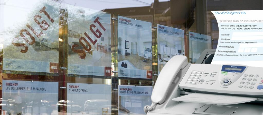 <b>TUNGVINT:</b> Det er ikke så ofte man trenger en faks, men i en budsituasjon er det fortsatt vanlig.  Foto: Per Ervland