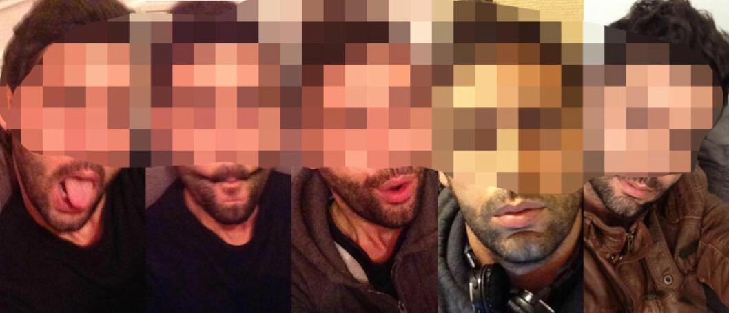 <strong>SELVPORTRETTER:</strong> Mannen som nå har Torunn Husviks stjålne iPhone er glad i å ta bilder av seg selv. Dagbladet har valgt å sladde bildene.