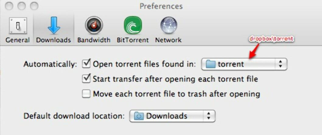 µTorrent er ett av flere BitTorrent-programmer som støtter automatisk nedlasting dersom det dukker opp en .torrent-fil i en gitt katalog.