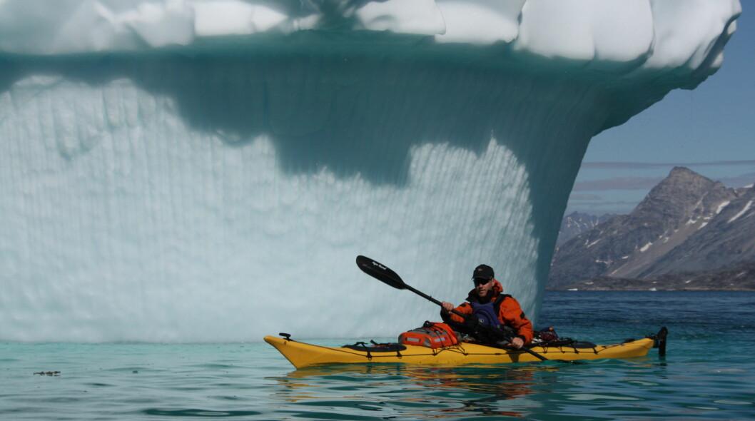 Sterke opplevelser på padletur langs Grønlands vakre kyst. Foto: Vidar Brotnov