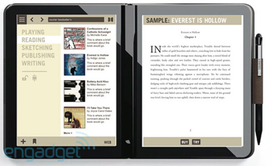 Prototype av Microsoft Courier Foto: Engadget