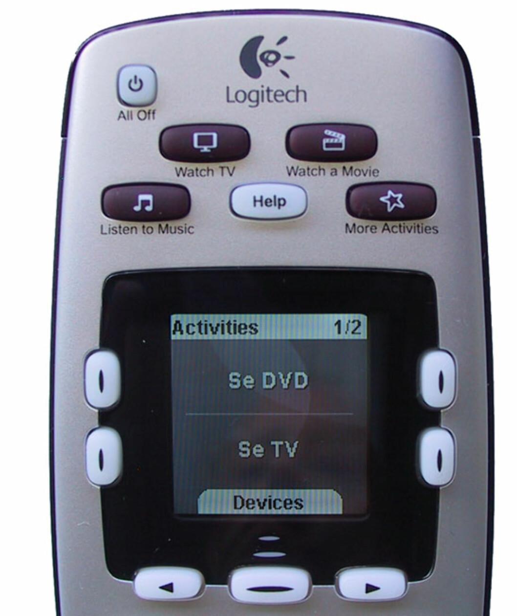 Logitech Harmony 600 fjernkontroll