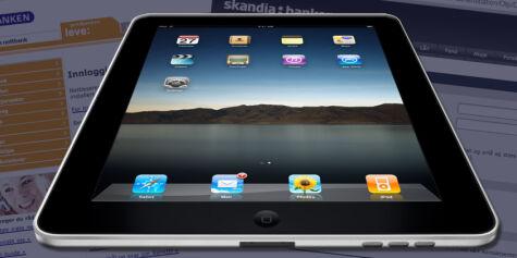image: Trøbbel med nettbank på iPad