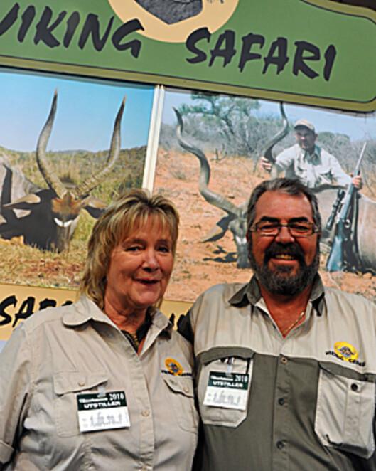 Solvår og Vermund Bue ser lyse tider i møte for viltfarmen sin i Sør Afrika.  Foto: Hans kristian Krogh-Hanssen