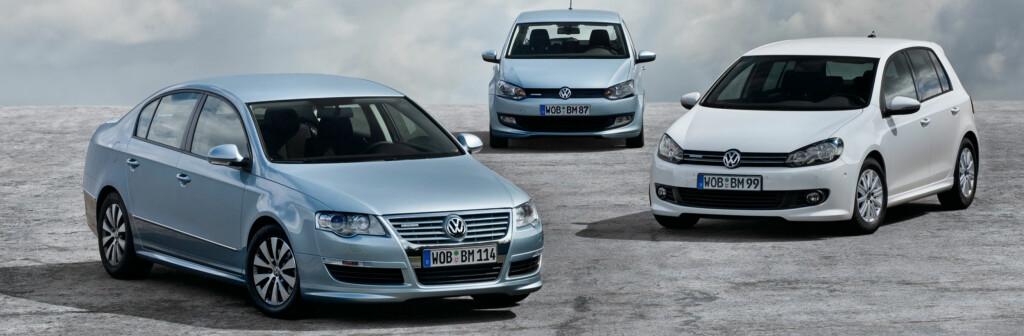 Volkswagens BlueMotion-teknologi, her representert ved Passat, Polo og Golf, ble tildelt prisen Årets miljøbil 2010. Det finnes også en BlueMotion-utgave av modellen Touran.
