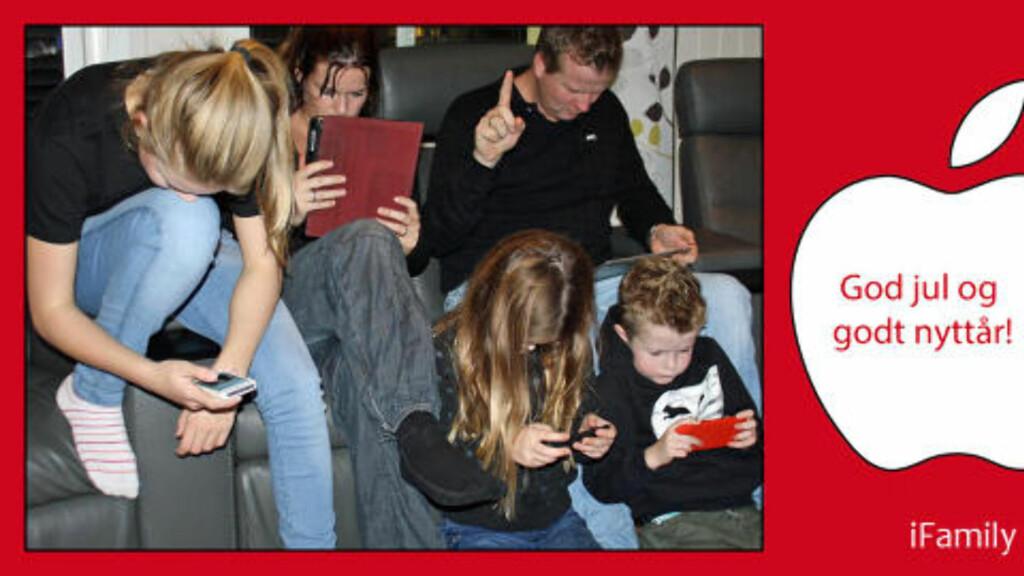 iFamily: Beklager, denne familien fra Eina er opptatt! Foto: Elisabeth Lofthus