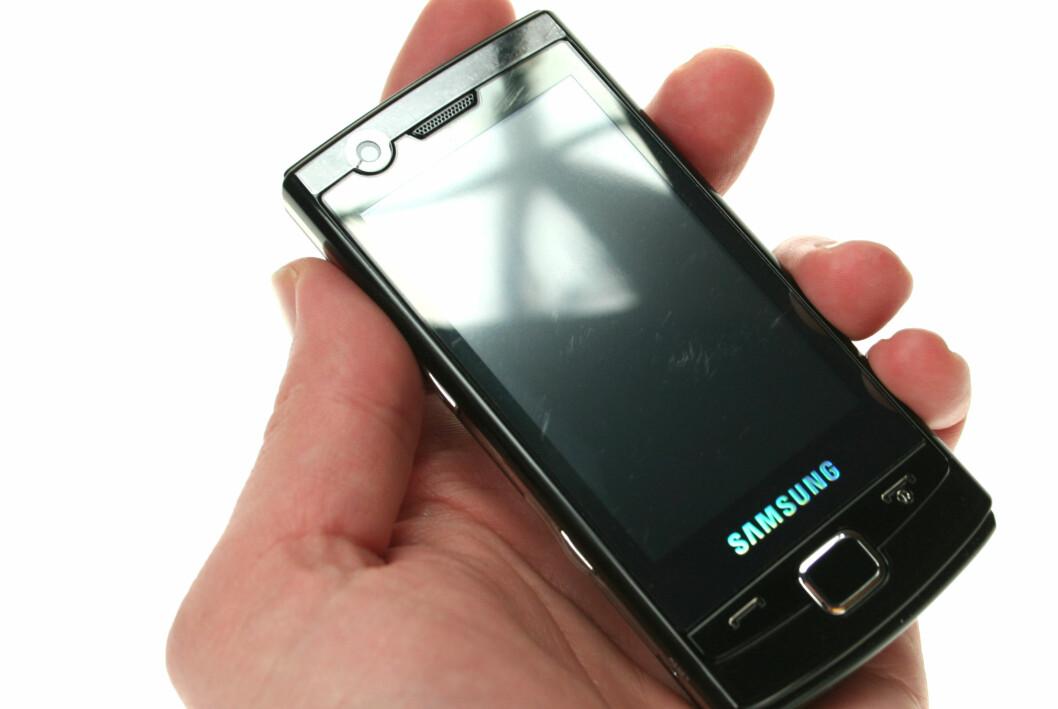 <strong><B>INGEN LOOKER:</strong></B> Windows Mobie-telefonen Samsung Omnia Lite er så lite oppsiktsvekkende at det strengt tatt er ganske oppsiktsvekkende.